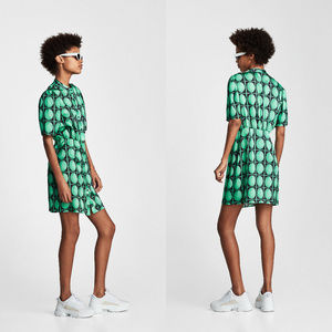 NWT Zara Green Polka Print Mini Dress